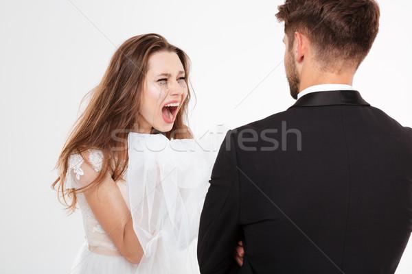 Screaming bride Stock photo © deandrobot