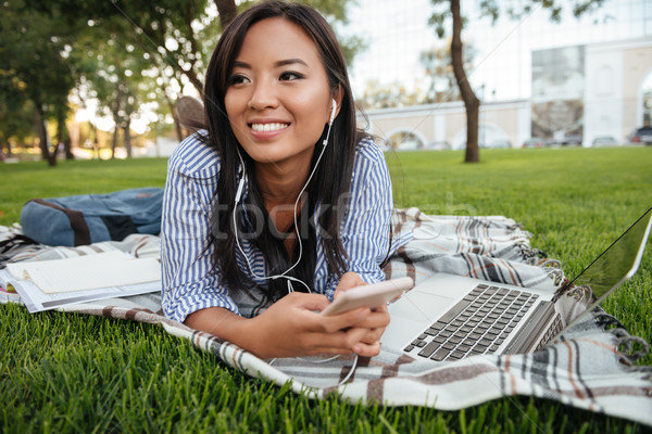 Zdjęcia stock: Fotografia · młodych · uśmiechnięty · asian · kobiet