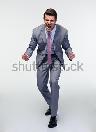 Portrait of angry businessman Stock photo © deandrobot