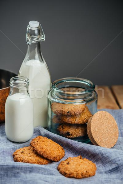 Kása sütik üveg bögre kettő üvegek Stock fotó © deandrobot