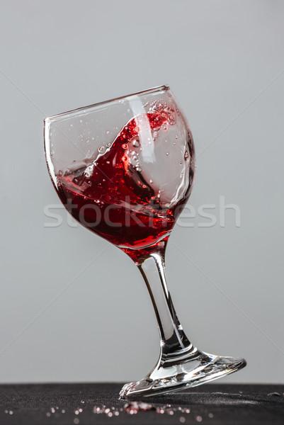 Red wine splash Stock photo © deandrobot