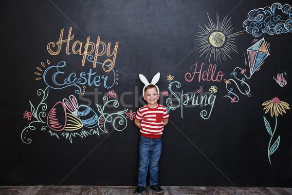 Stok fotoğraf: Mutlu · küçük · erkek · tavşan