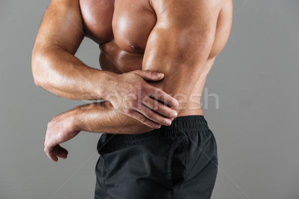 Foto d'archivio: Ritratto · forte · muscolare · maschio · bodybuilder