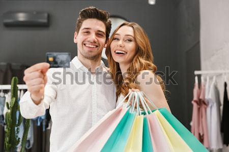 Stok fotoğraf: Alışveriş · elbise · birlikte · giyim
