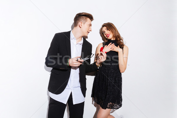 Attrattivo giovane proposta fidanzata Foto d'archivio © deandrobot
