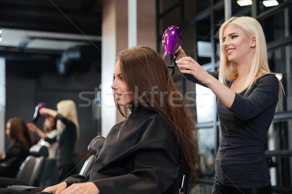 スタイリスト 髪 女性 クライアント ビューティーサロン 美 ストックフォト © deandrobot