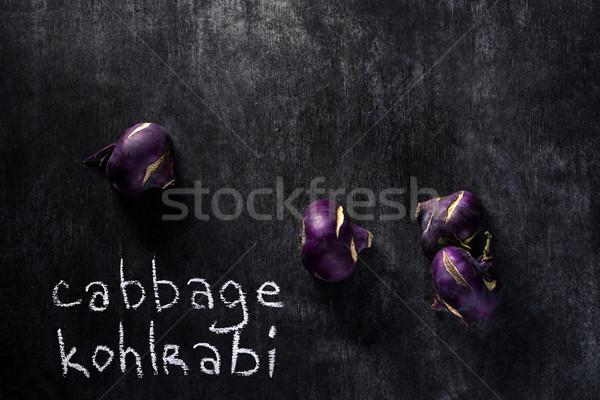 Káposzta sötét felső kilátás kép egészség Stock fotó © deandrobot