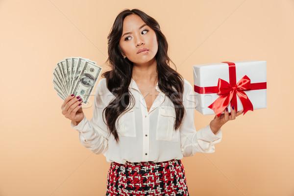 портрет путать азиатских женщину Сток-фото © deandrobot