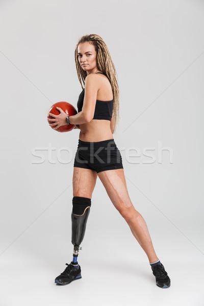 здорового молодые инвалидов изображение изолированный Сток-фото © deandrobot