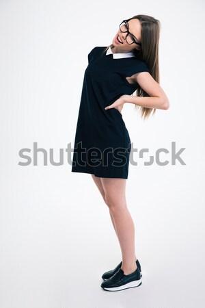 肖像 少女 若い女の子 孤立した ストックフォト © deandrobot