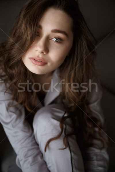 Vertical image of beauty woman Stock photo © deandrobot