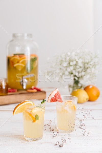 Stock photo: Croopped image of citrus beverage