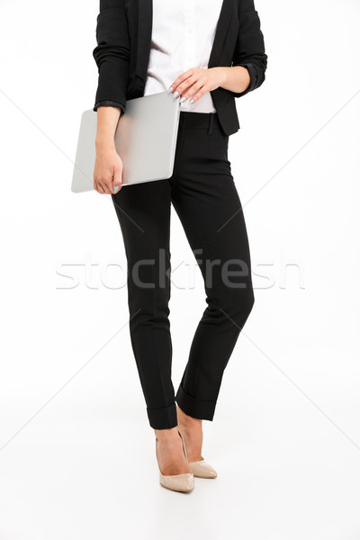 Vertical cropped image of body business woman Stock photo © deandrobot