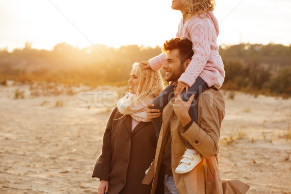 Portrait of a family with a little daughter spending time Stock photo © deandrobot