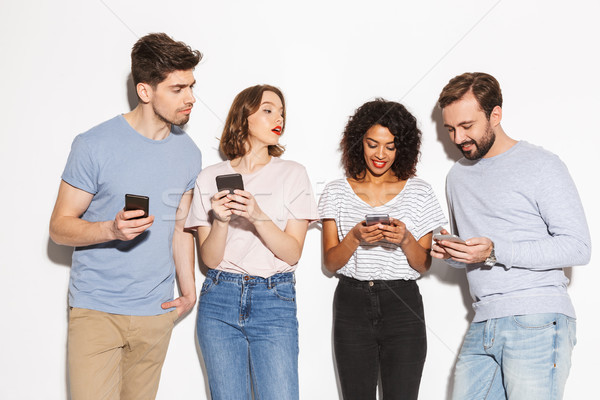 Group of modern multiracial people Stock photo © deandrobot