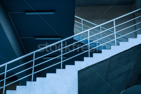 Trap afbeelding gebouw abstract fabriek Stockfoto © deandrobot