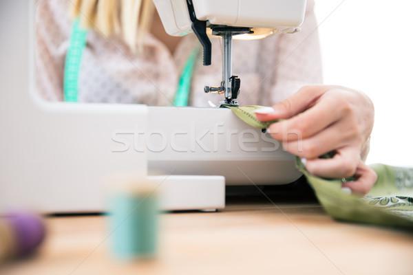 женщину швейные машины портрет бизнеса работу Сток-фото © deandrobot