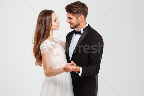 Portrait of married couple Stock photo © deandrobot