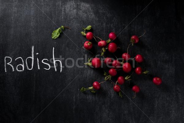 画像 大根 暗い 黒板 先頭 表示 ストックフォト © deandrobot