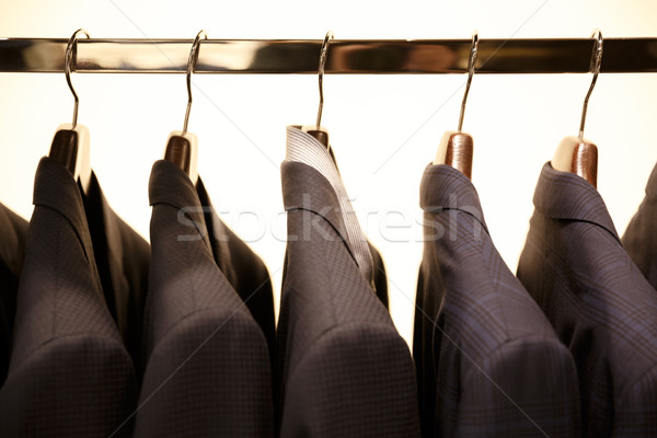 Picture of rack with suits Stock photo © deandrobot