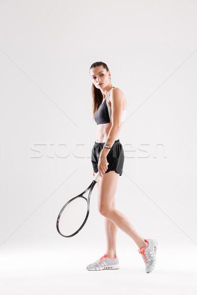 Ritratto bella abbigliamento sportivo Foto d'archivio © deandrobot