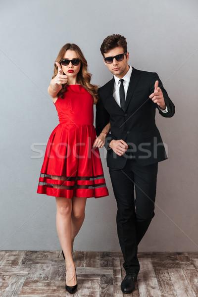 Teljes alakos portré fiatal komoly pár hivatalos Stock fotó © deandrobot