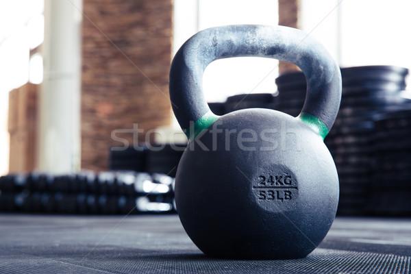 изображение чайник мяча фитнес спортзал Сток-фото © deandrobot