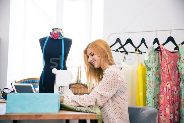 女性 ミシン 幸せ 美人 洗濯 ビジネス ストックフォト © deandrobot