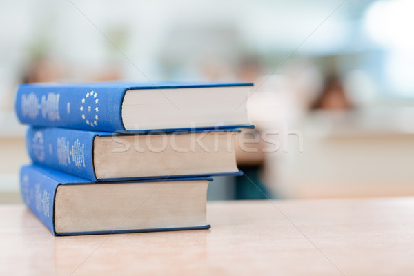 Books on the table Stock photo © deandrobot