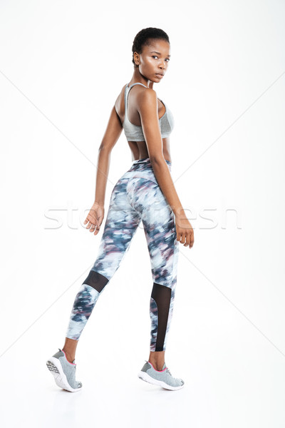 Sports afro american woman Stock photo © deandrobot