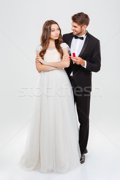 Full-length image of a proposal Stock photo © deandrobot