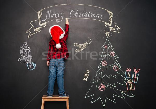 Bambino piedi sgabello Natale disegno Foto d'archivio © deandrobot