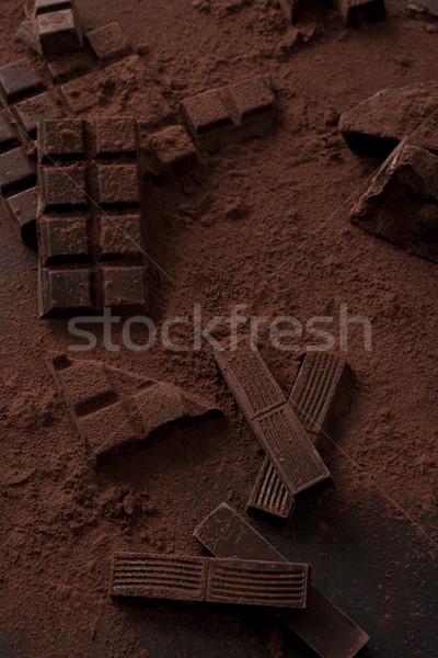 темный шоколад Бар Top мнение вкусный покрытый Сток-фото © deandrobot
