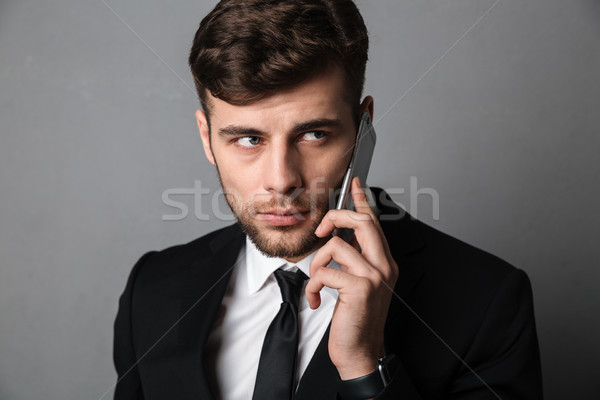 Portre ciddi genç çekici adam Stok fotoğraf © deandrobot