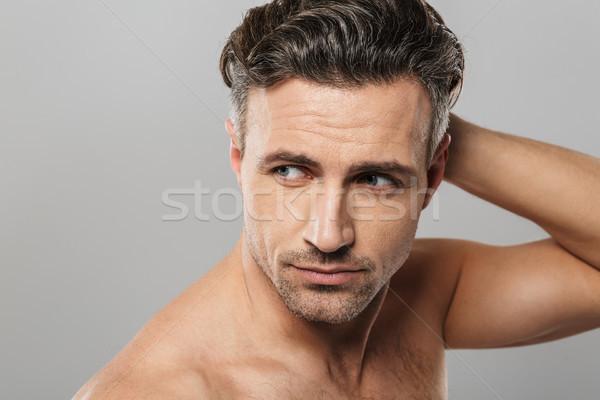 ハンサム 深刻 成熟した男 見える 画像 立って ストックフォト © deandrobot