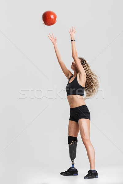 Healthy young disabled sportswoman Stock photo © deandrobot