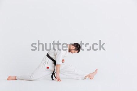 человека кимоно изолированный белый спортивных Сток-фото © deandrobot