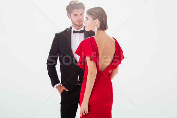 Beautiful couple in love Stock photo © deandrobot
