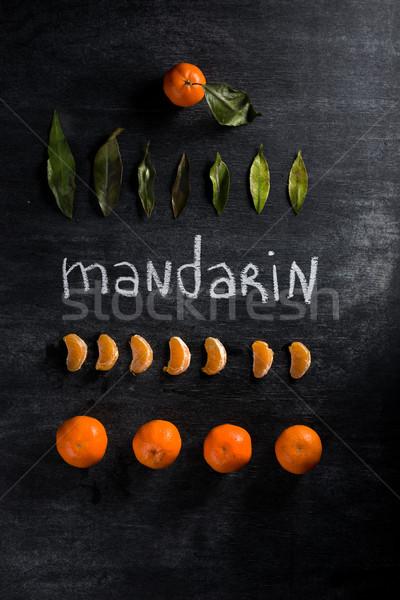 Escuro quadro-negro topo ver foto fruto Foto stock © deandrobot