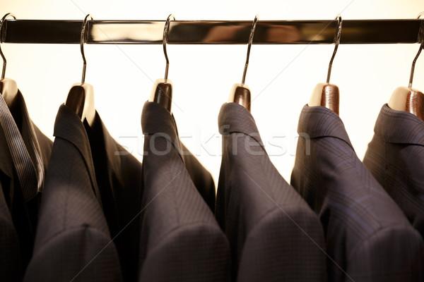 Görüntü raf suit alışveriş moda iç Stok fotoğraf © deandrobot