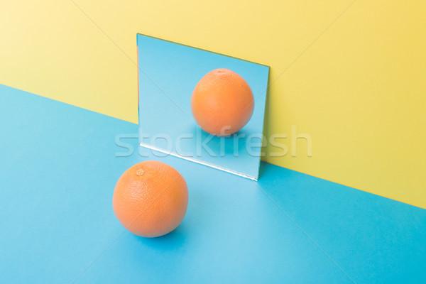 Toranja azul tabela isolado amarelo quadro Foto stock © deandrobot