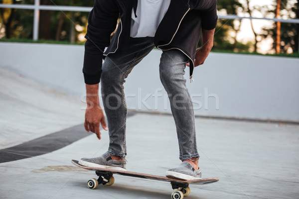 Cropped image of a young african male teenager Stock photo © deandrobot