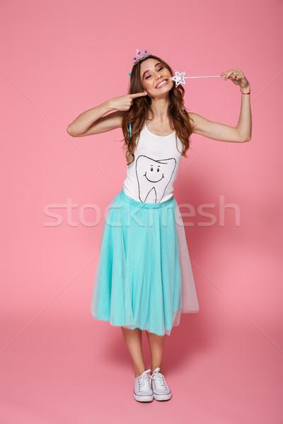 Tam uzunlukta fotoğraf çekici genç kadın gibi prenses Stok fotoğraf © deandrobot