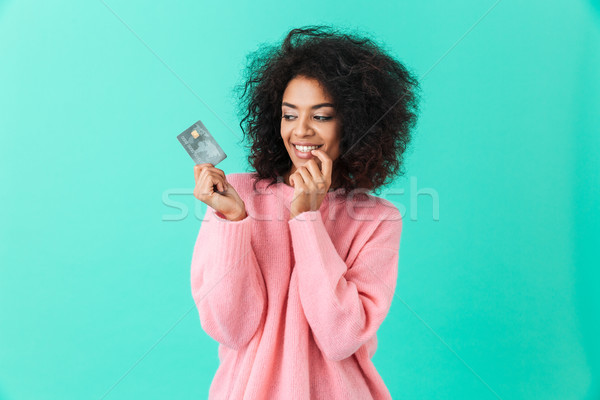 Retrato encantador americano mulher 20s africano Foto stock © deandrobot