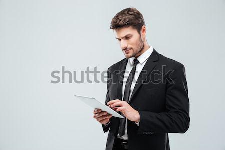 Concentré jeunes affaires permanent affaires bureau Photo stock © deandrobot