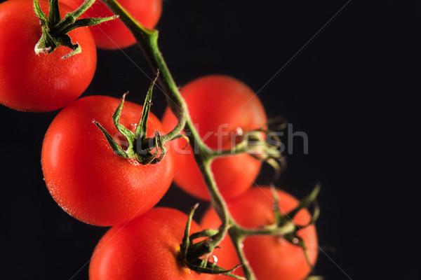 Ripe fresh cherry tomatoes isolated Stock photo © deandrobot