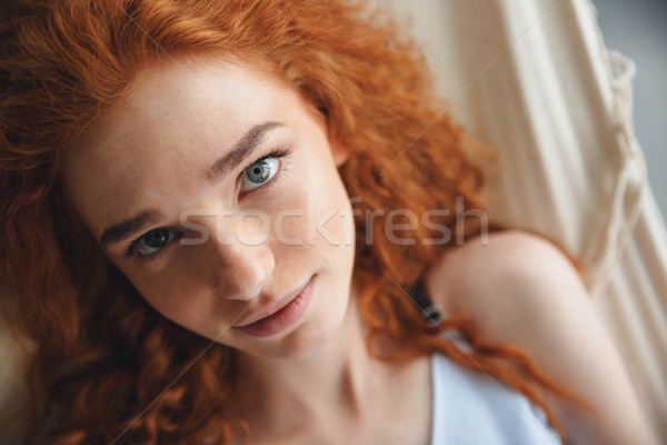 Genç bayan lies hamak Stok fotoğraf © deandrobot
