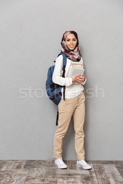 Retrato sorridente jovem árabe mulher Foto stock © deandrobot