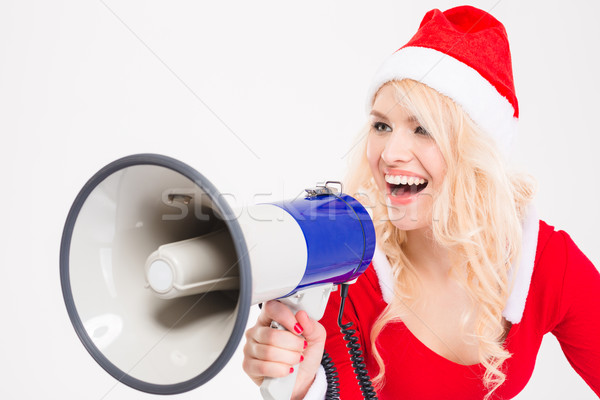 Funny zabawny kobieta mówić Język Zdjęcia stock © deandrobot