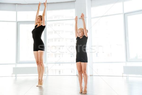 Kicsi ballerina osztály személyes balett tanár Stock fotó © deandrobot